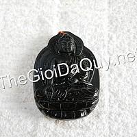 Mặt đại lộc Sivali đá Obsidian