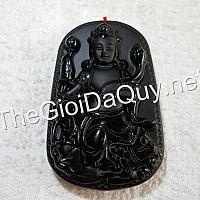 Mặt Quan Âm Cá Chép đá Obsidian