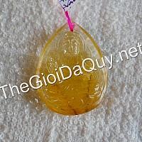 Phật bản mệnh Đại Thế Chí đá thạch anh tóc vàng 35
