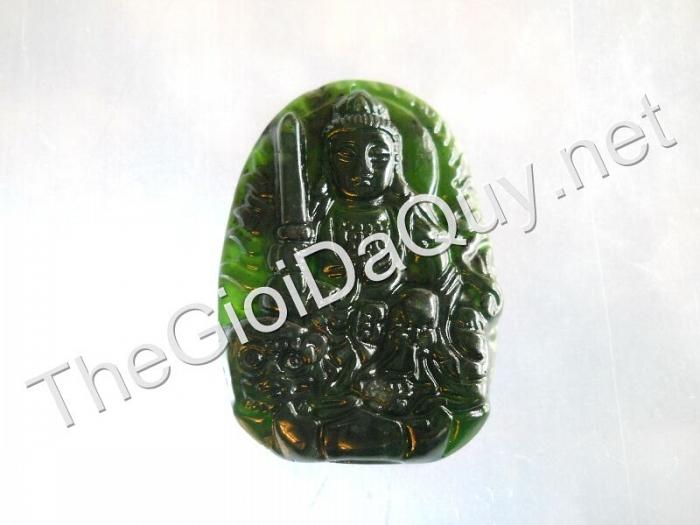 Phật bản mệnh Văn Thù đá Serpentine