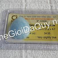 Mặt đá Aquamarine có giám định đá quý SJC
