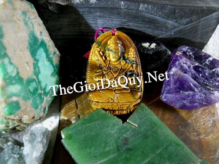 Phật bản mệnh tuổi Sửu phật Hư Không Tạng đá mắt hổ đúng gốc phật giáo