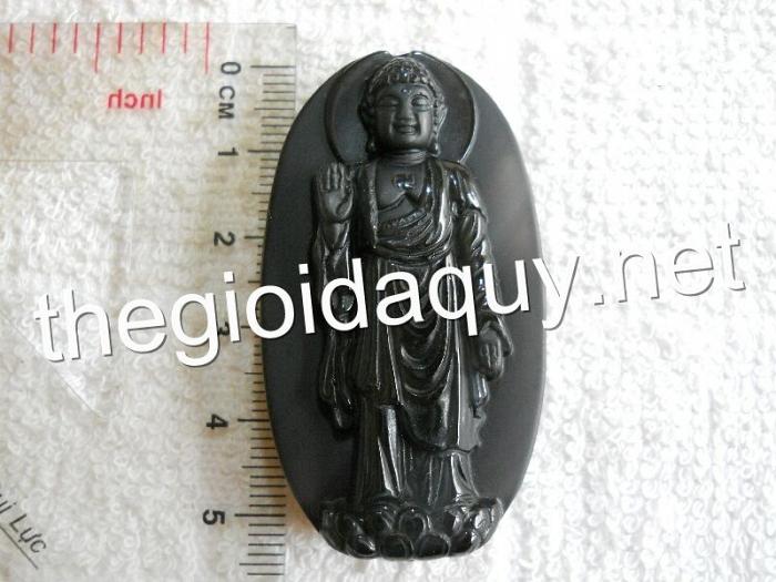 Phật bản mệnh A Di Đà đứng đá núi lửa cầu vòng
