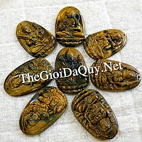 Phật bản mệnh Văn Thù bồ tát hộ mạng tuổi Mão đá mắt hổ - Chổ bán Văn Thù bồ tát đúng gốc Phật giáo