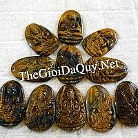 Phật bản mệnh tuổi Hợi A Di Đà đá mắt hổ - Chổ bán A Di Đà phật đúng gốc